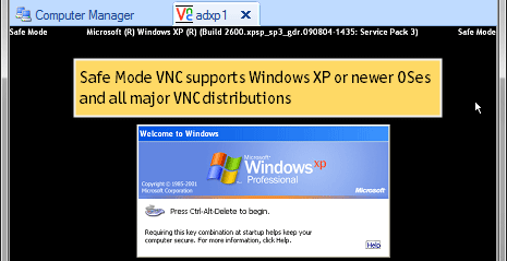 Reboot Computer into Safe Mode with VNC